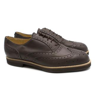 T & F Slack Shoemakers London Handmade Brown Leather Brogues