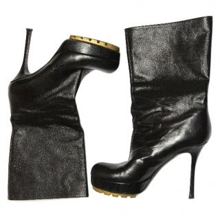 Saint Laurent Caviar leather boots