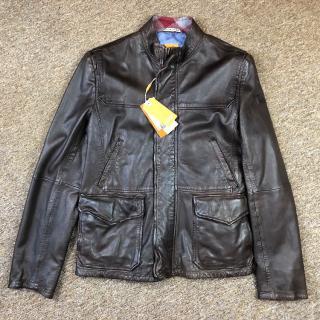 Hugo Boss Jerian Leather Biker Jacket