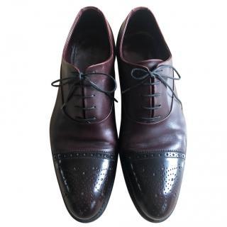 Louis Vuitton brown burgundy brogue