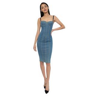 Dolce & Gabbana Denim Fitted Dress