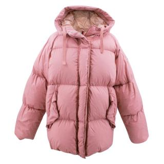 Moncler Pink Padded and Hooded Jacket