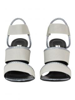 Balenciaga elastic strap wedge sandals