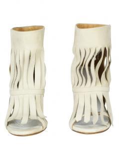 Maison Martin Margiela MM22 fringed leather boots
