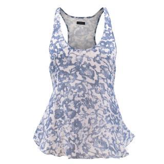 Joseph Blue and White Print Vest Top