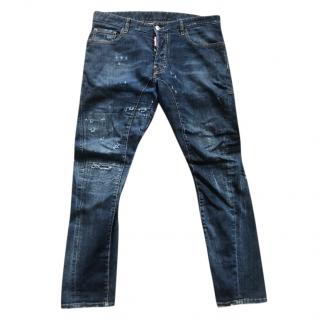 DSquared blue button fly jeans