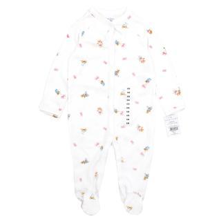 Ralph Lauren Girl's Teddy Bear Print Babygrow