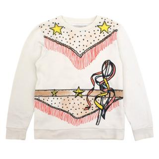 Stella McCartney Girls White Bold Printed Jumper
