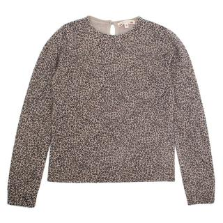 Bonpoint Leopard Print Knitted Jumper