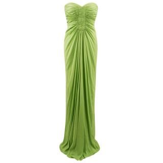 Amanda Wakely Lime Green Strapless Gown