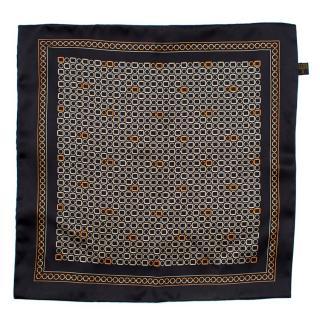 Zilli Black Patterned Pocket Square