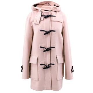 Burberry Pink Hooded Duffle Coat