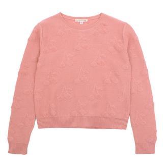 Bonpoint Girls Pink Cherry Jumper