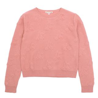 Bonpoint Girls Pink Cherry Jumper