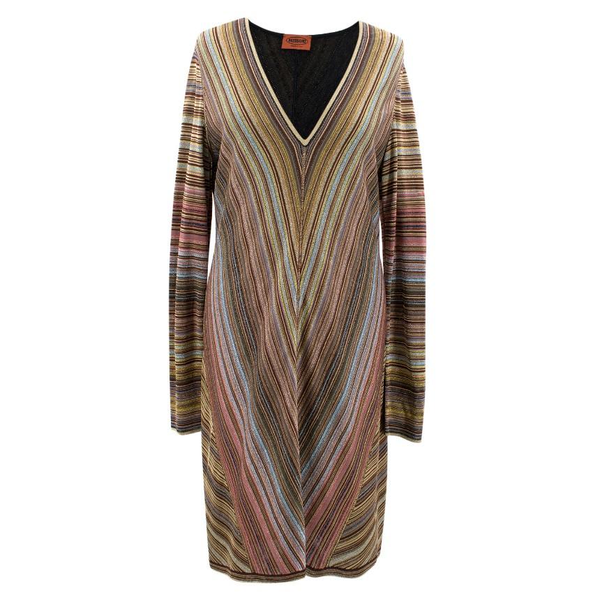 Missoni Metallic V Neck Dress