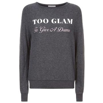 Wildfox Too Glam To Give A Damn Sweatshirt Hewi London