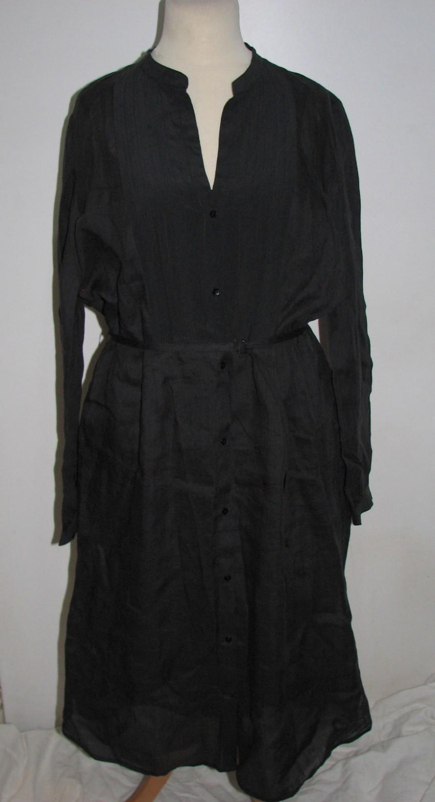 Gerard Darel Black Silk Dress