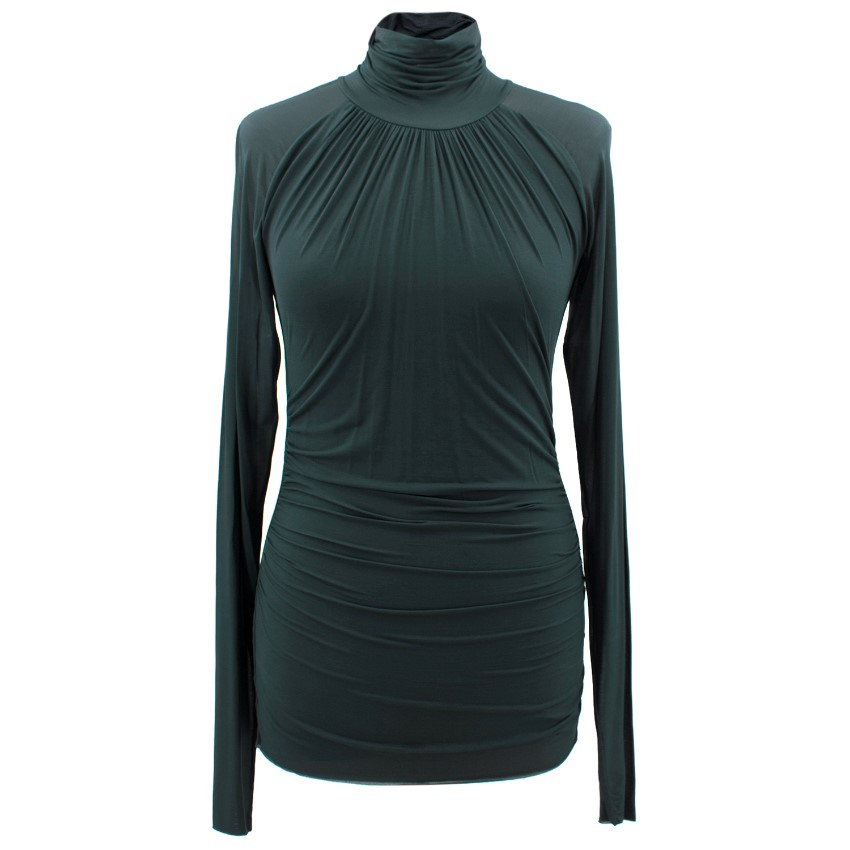 Gucci Green Turtle Neck Top