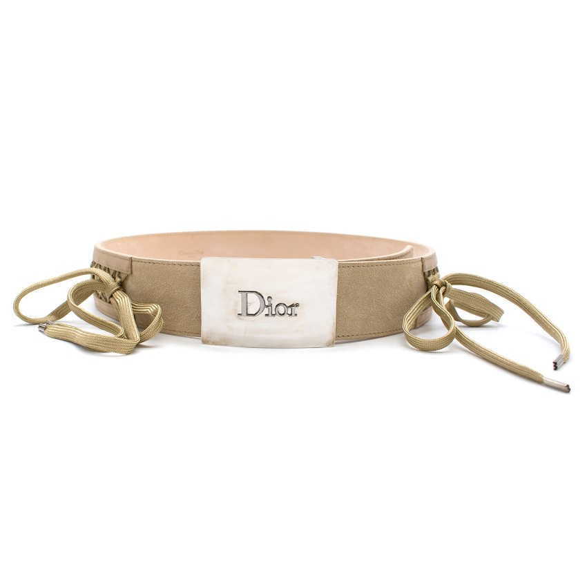 Dior Beige lattice detail Belt