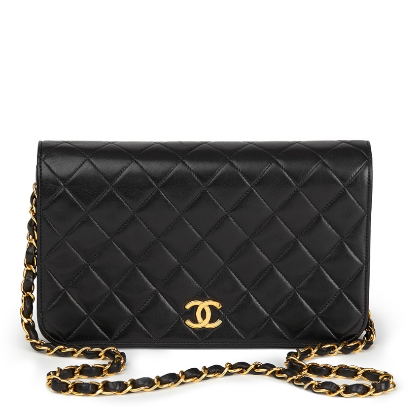 Chanel Quilted Lambskin Vintage Small Classic Single Flap Bag  d81aeb2bf9b47