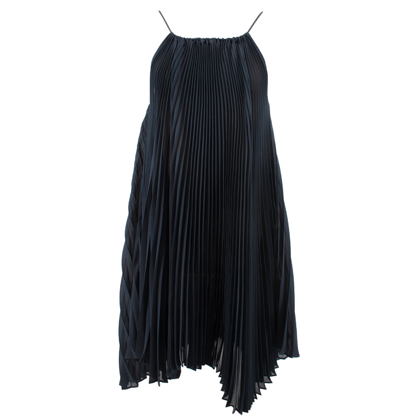 Oliver Strelli navy pleated dress