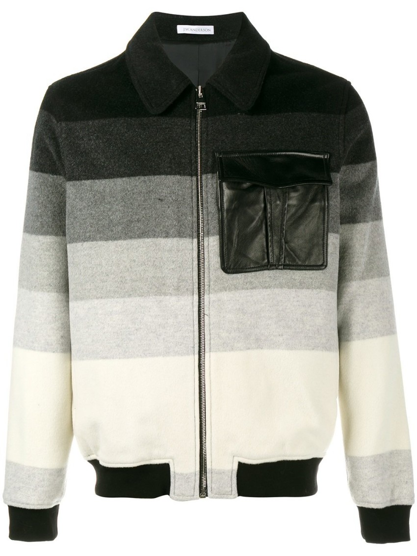 JW ANDERSON striped bomber jacket