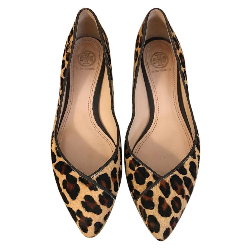 Tory Burch Leopard Ballerina Uk 5   HEWI