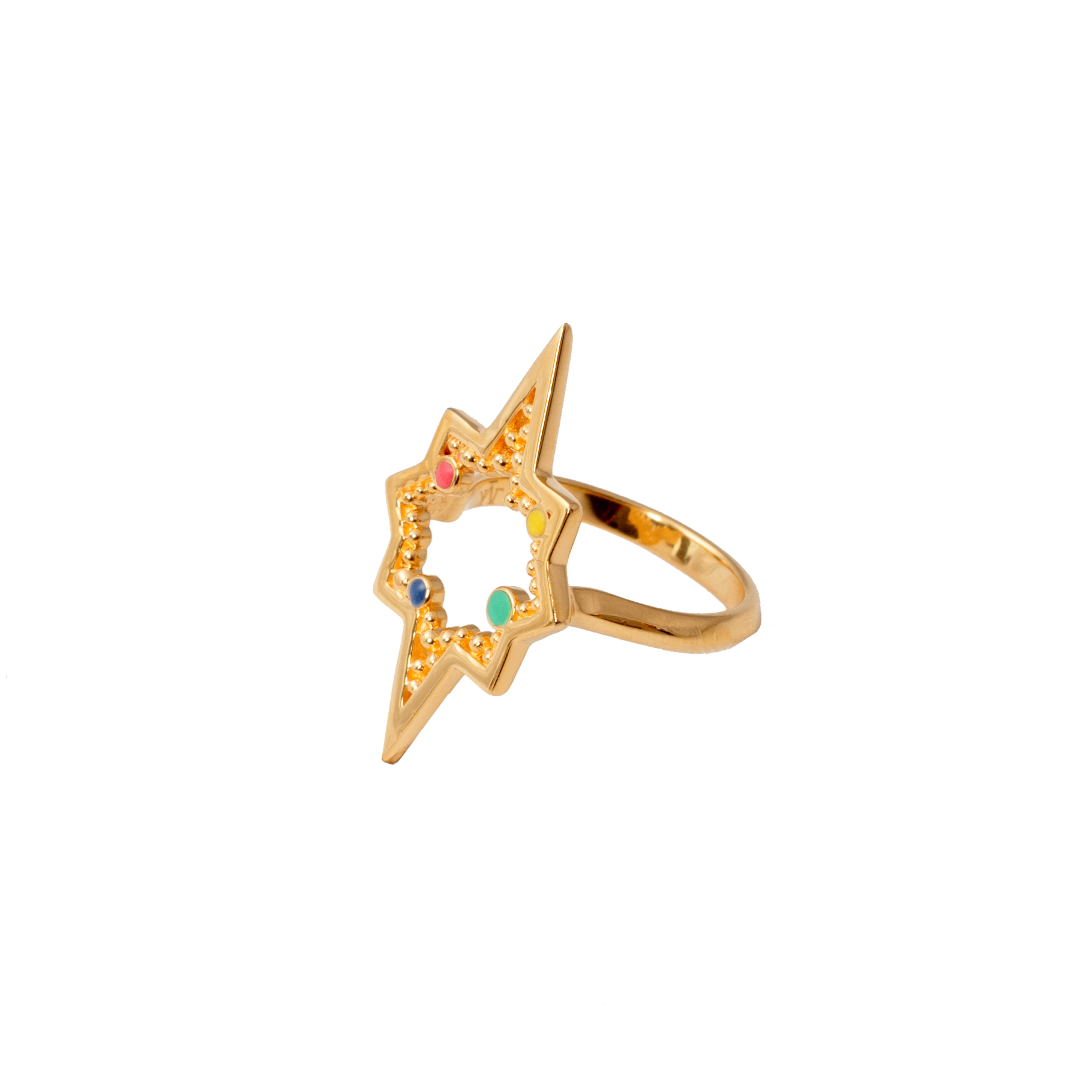 Leivankash Gold & Enamel Divan Ring Rrp �225.00