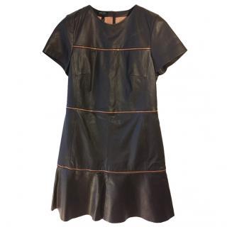 Escada Sport zip-dress lambs leather