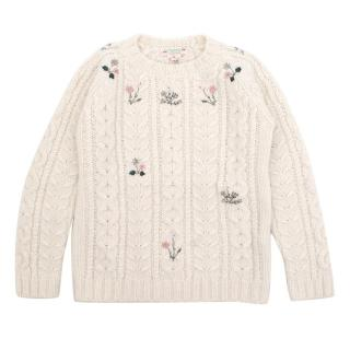 Bonpoint Girls Cream Jumper