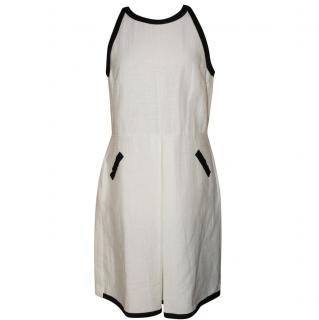 Max Mara Whie dress with black trim
