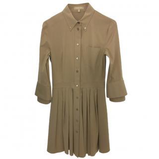 Michael Kors Collection Pleated Shirt Dress.