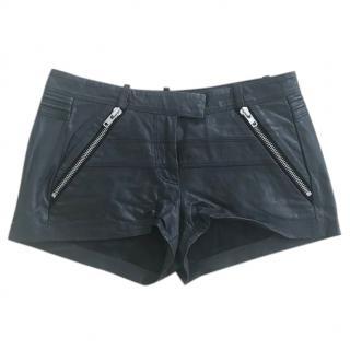 Maje leather shorts