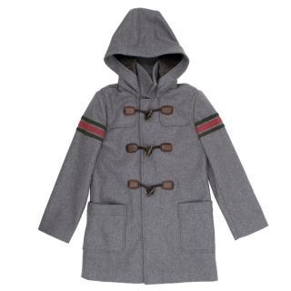 Gucci Kids Grey Duffle Coat