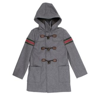 Gucci Kids Grey Duffle Coat