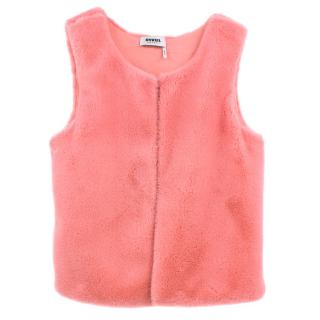 Rykiel Girls Pink Faux Fur Gilet