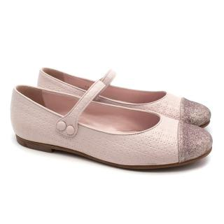 Dior Girls Pink Flat Shoes - Current Season