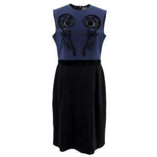 Lanvin Navy Dress with Embellishments
