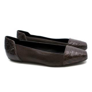 Karinaik Brown Crocodile Flats