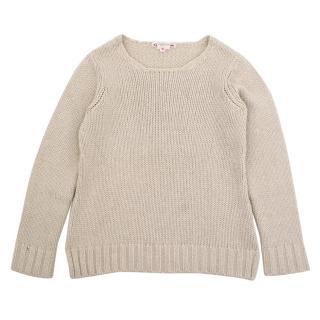 Bonpoint cream cashmere jumper