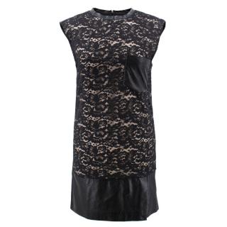 3.1 Philip Lim Lace and Leather Dress