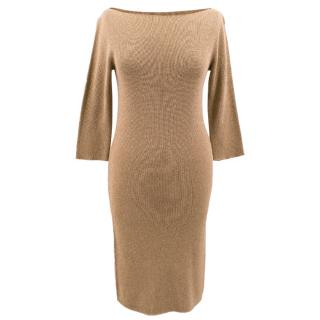 Joseph copper gold silk knit dress