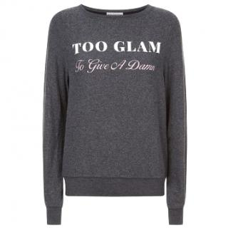 WildFox 'Too Glam To Give A Damn' Sweatshirt