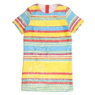 Little Marc Jacobs Multi-coloured Sequin Striped Dress