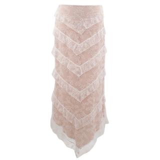 Chloe Lace Skirt with Nude Lining