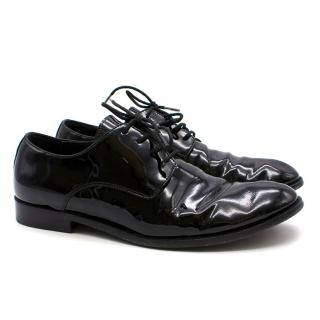 Dior Black Patent Leather Brogues