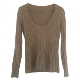 Fendi Taupe Cashmere Pullover