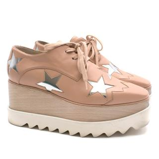Stella McCartney Pink Brogues with Silver Stars