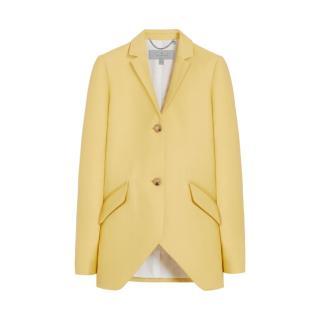 Mulberry Marianne Jacket Camomile Double Polished Wool Silk UK12