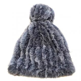 Hockey Geay Fur Beanie Hat